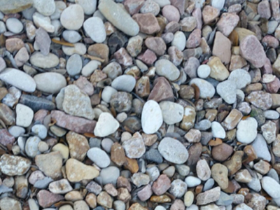 multi color river rock Houston